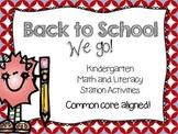 Back to School {Kindergarten Common Core Stations}