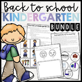 BUNDLE Back to School Kinder-First Month of School Plans,