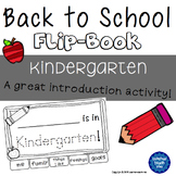 Back to School - Kindergarten - Flip-Book