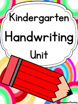 Kindergarten Handwriting Unit {Sight Words}