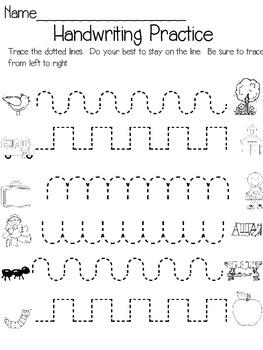 Kindergarten Homework- Back to School Edition