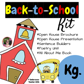 Back to School (Kindergarten) Kit {Brochure, Presentation, Sentence Builders +)