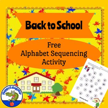 Back to School - Kindergarten Language Arts Practice FREE