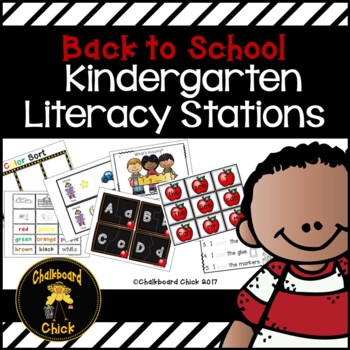 Back to School Kindergarten Literacy Stations