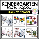 Back to School Kindergarten Math Centers