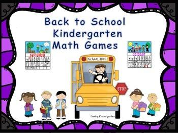 Kindergarten Math Games & Activites for September & October