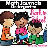 Back to School Kindergarten Math Journals