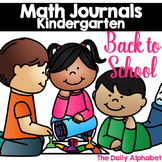 Back to School Kindergarten Math Journals