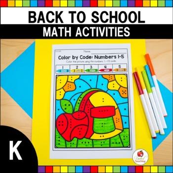 Back to School Kindergarten Math Worksheets