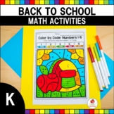 Back to School Math Worksheets (Kindergarten)