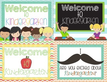 Back to School Kindergarten Postcards