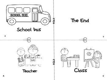 Back to School Kindergarten Reader