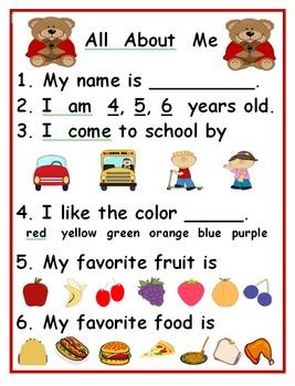 Kindergarten Back to School:  Ready, Set, Go