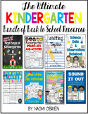 Back to School Kindergarten Resources