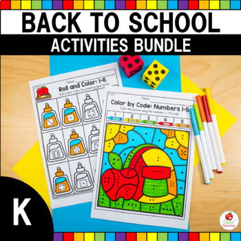 Back to School No Prep Worksheet Bundle (Kindergarten)