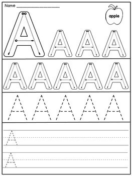 Beginning of Kindergarten Worksheets: Letters and Numbers