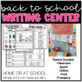 Back to School Kindergarten Writing Center