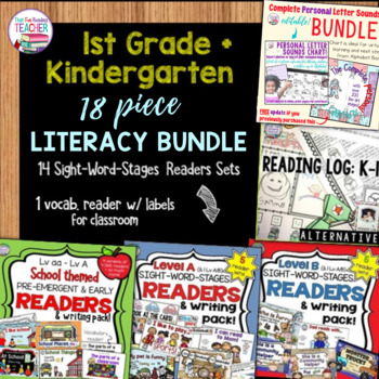 First Grade Kindergarten Reading Bundle