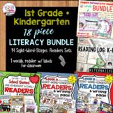 First Grade Kindergarten Reading Bundle | Distance Learning