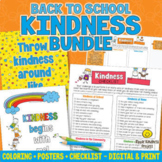 Back to School Kindness Activities - Coloring Pages|Posters|Checklists Bundle