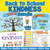 BACK TO SCHOOL KINDNESS BUNDLE Coloring | Posters |Checkli