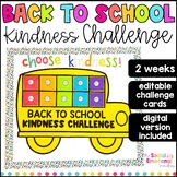 Back to School Kindness Challenge (EDITABLE)