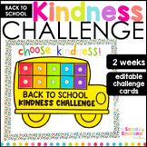 Back to School Kindness Challenge (EDITABLE)