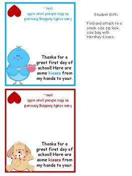 Back to School Kisses Gift Tag