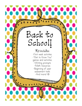 Back to School Kit - FREEBIE!