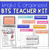 Back to School Kit for Open House, Meet the Teacher   Editable