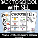 Back to School Kit for Social-Emotional Learning | SEL Act
