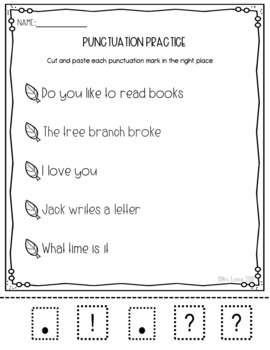 Back to School LITERACY CENTERS: Punctuation practice, Forming Plurals and more