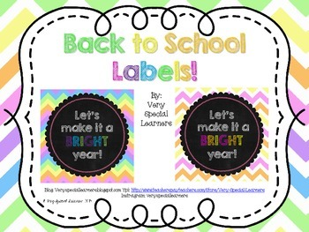 Back to School Labels!
