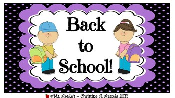 Back to School Labels #2