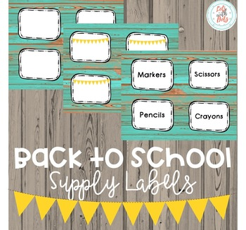 Back to School Labels