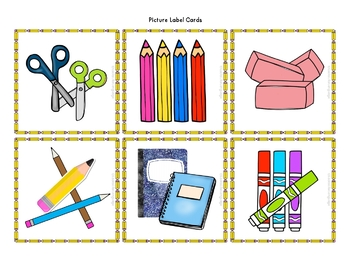 Back to School Picture Labels