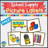 Freebees Printables | Back to School | Picture Labels | Organization