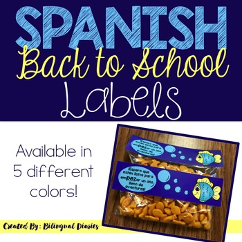 Back to School Labels (Spanish)