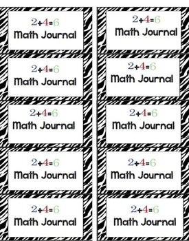 Back to School Labels for Journals