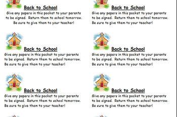 Back to School Labels for organizational binders/ folders