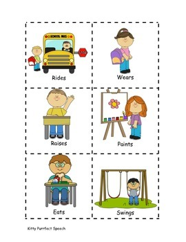Back-to-School Language: 3rd Person Singular