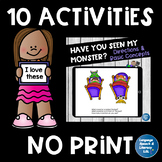 No Print, 10 Fun Language Activities for iPad, Tablet, Computer, Teletherapy