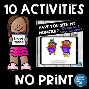Back to School Language Activities Bundle - No Prep/No Print
