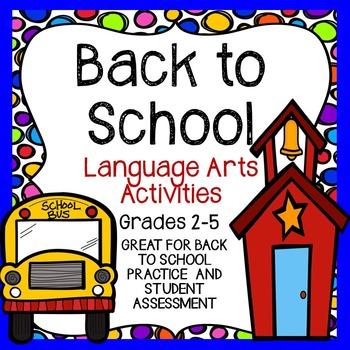Back to School Language Arts Activites