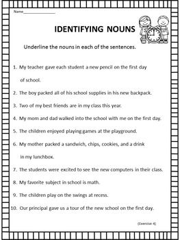 Back to School - Language Arts Activities