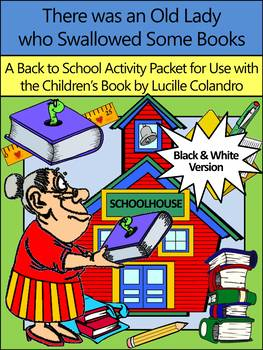 Back to School Language Arts Activities: Old Lady Who Swallowed Some Books