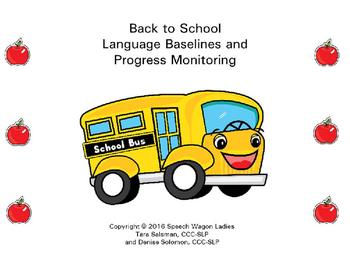 Back to School Language Baselines and Progress Monitoring