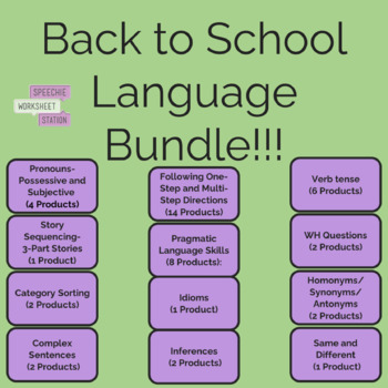 Back to School Language Bundle