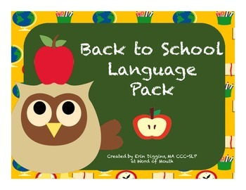 Back to School Language Pack
