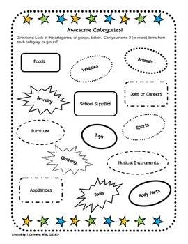 Back to School Language Packet!